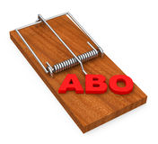 Abo trap. 3d generated picture of an abo trap royalty free illustration