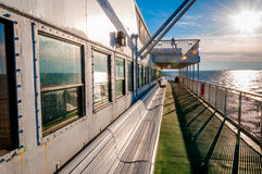 Aboard the Cape May -Lewes Ferry, in the Delaware Bay between Ne Royalty Free Stock Photos