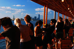 Aboard the Staten Island Ferry Stock Photo