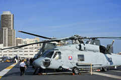 Aboard USS Midway Museum in San Diego Stock Image