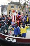 aboat到达克劳斯・荷兰圣诞老人 库存照片