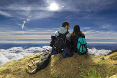 Abobe las nubes Foto de archivo libre de regalías
