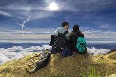 Abobe les nuages Photo libre de droits