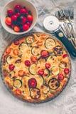Abobrinha, tomates e galdéria do queijo foto de stock royalty free