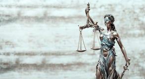 Abogado Business Concept de Themis Statue Justice Scales Law foto de archivo libre de regalías