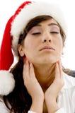 Abogado cansado en sombrero de la Navidad Fotos de archivo libres de regalías