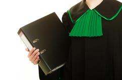 Abogado de la mujer con la carpeta de archivos o el expediente Fotos de archivo libres de regalías