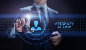 Abogado en el concepto del negocio del asesoramiento jur?dico de la defensa del abogado de la ley stock de ilustración