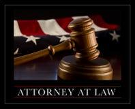 Abogado en la ley Imagen de archivo libre de regalías
