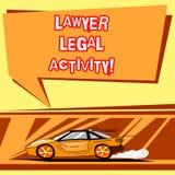 Abogado Legal Activity de la escritura del texto de la escritura El significar del concepto prepara casos y dar consejo sobre el  libre illustration