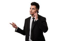 Abogado que habla en el teléfono Imagen de archivo