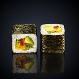 Abogado roru rolls with avocado Stock Image