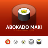 Abokado maki icon in different style Royalty Free Stock Photo