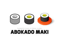 Abokado maki icon in different style Stock Images