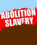 Abolition of slavery. Poster depicting an abstract blood of slav Royalty Free Stock Photos