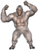 Abominable Snowman, Yeti, Gorilla Isolated Stock Photo