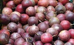 Abondance des passiflores comestibles de passiflore Photo libre de droits