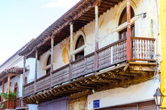 Abonded colonial building in Cartagena - Colombia stock photo
