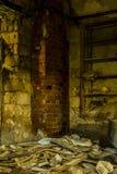 Abonded fabrik Fotografering för Bildbyråer