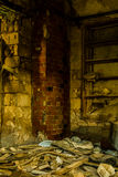 Abonded fabrik Arkivbild