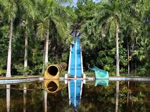 Abondoned waterslides in Hue royalty free stock photo