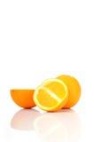 Abone las frutas con cal anaranjadas Foto de archivo