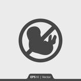 Aborci przerwy ikona dla sieci i wiszącej ozdoby Obraz Royalty Free