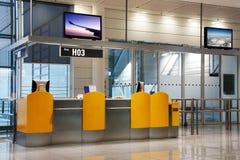 Abordaż brama przy lotniskiem zdjęcia royalty free