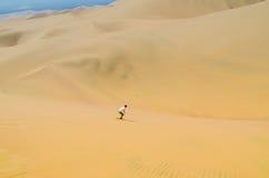 Abordaż zabawa na Atacama pustyni, oaza Huacachina, Ica region, Peru Fotografia Stock