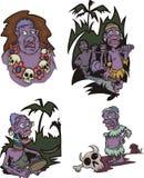 Aborigènes d'Africain de bande dessinée Photographie stock