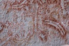 Aboriganal vaggar konst, den Carnarvon klyftan Arkivbild