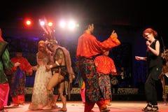 Aborigen invite al togather de la danza del visitante Fotografía de archivo libre de regalías