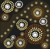 Aboriginal art. Illustration ob aboriginal art in brown and black Royalty Free Stock Photos
