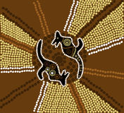 Aboriginal art. Illustration ob aboriginal art in brown and black Royalty Free Stock Photo
