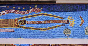Aboriginal Art. At the Adelaide Indigenous Business Centre. South Australia Royalty Free Stock Photos