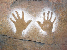 Aboriginal art. Aboriginal style hand cave painting stock images