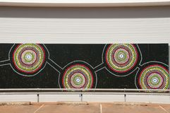 Aboriginal Art - Australia. Aboriginal Art Circles in Australia Stock Photos