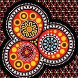 Aboriginal art background. Vector illustration Royalty Free Stock Images