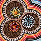 Aboriginal art background. Vector illustration art Royalty Free Stock Photography