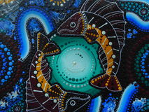 Australian aboriginal art painting royalty free stock photo