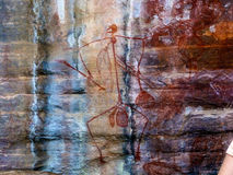 Aboriginal Art. Human representation in dreamtime stories, Ubirr, Kakadu, NT Australia stock image