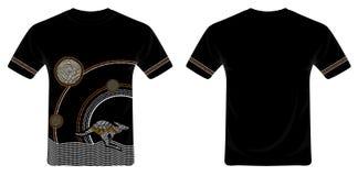Aboriginal Art T-Shirt Design Vector. Illustration based on aboriginal style of T-Shirt Design stock illustration