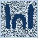 Aboriginal art vector background. Stock Photography