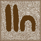 Aboriginal art vector background. Royalty Free Stock Image