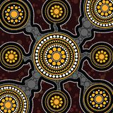 Aboriginal art vector background. Connection concept royalty free illustration