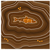 Aboriginal art vector background. Fish. Australia Aboriginal art vector background with dots. Fish Stock Images