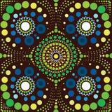 Aboriginal art vector background. Illustratin vector illustration