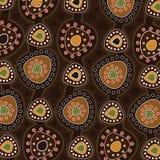 Aboriginal art vector background. Illustration royalty free illustration