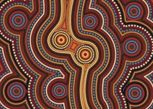 Aboriginal art vector background. royalty free stock image