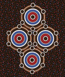 Aboriginal art vector background Royalty Free Stock Images